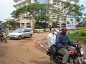 "I ride on ""Boda-boda""."