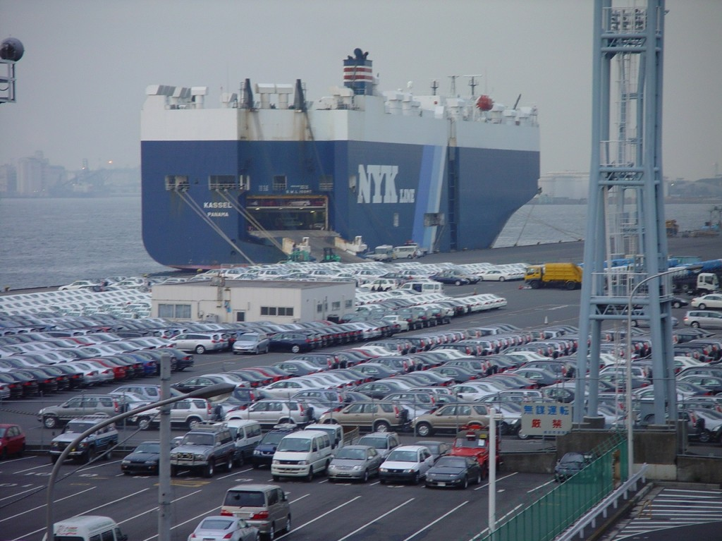Ranking 2015 year of Japanese used car export volume