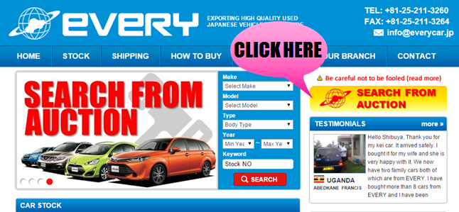 Used Car Auctions Near Me >> Auction System Japanese Used Truck And Car Exporter Every
